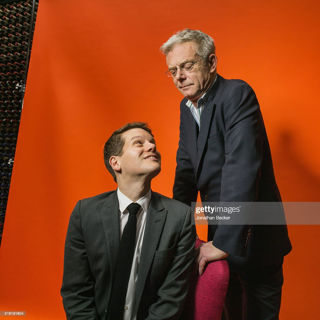 Actor Jeremy Irvine and director Stephen Daldry are photographed at the Charles Finch and Chanel's Pre-BAFTA on February 7, 2015 in London, England. PUBLISHED