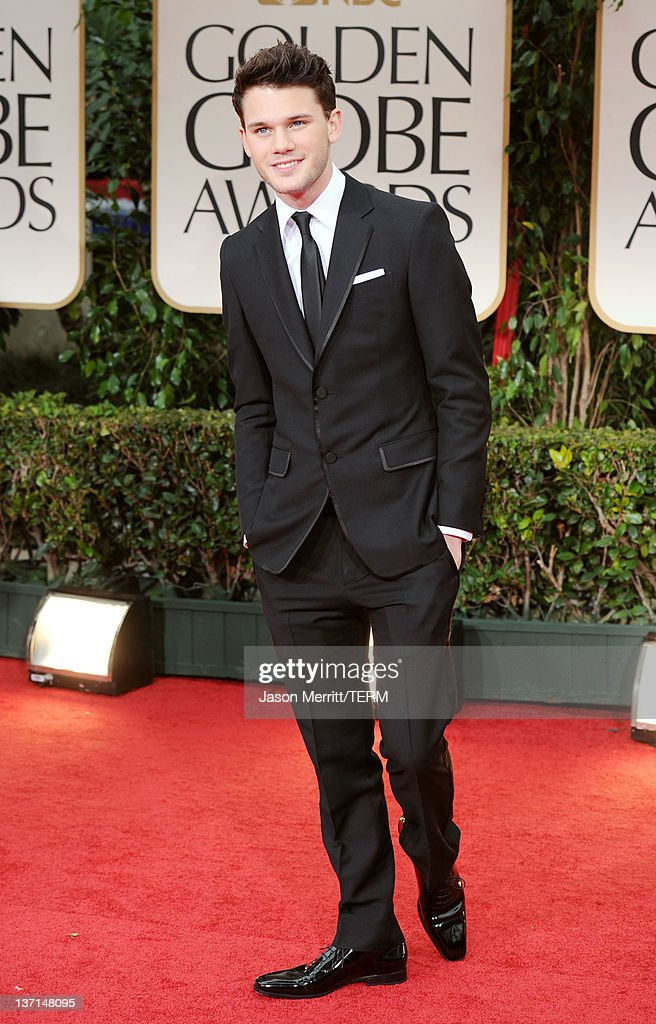 Actor <a gi-track='captionPersonalityLinkClicked' href=/galleries/search?phrase=Jeremy+Irvine&family=editorial&specificpeople=7595423 ng-click='$event.stopPropagation()'>Jeremy Irvine</a> arrives at the 69th Annual Golden Globe Awards held at the Beverly Hilton Hotel on January 15, 2012 in Beverly Hills, California.