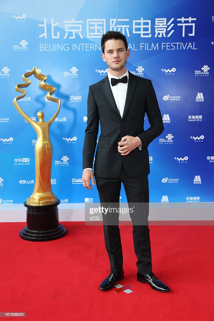 Actor <a gi-track='captionPersonalityLinkClicked' href=/galleries/search?phrase=Jeremy+Irvine&family=editorial&specificpeople=7595423 ng-click='$event.stopPropagation()'>Jeremy Irvine</a> arrives at the closing ceremony red carpet during the 3rd Beijing International Film Festival at China National Convention Center on April 23, 2013 in Beijing, China.