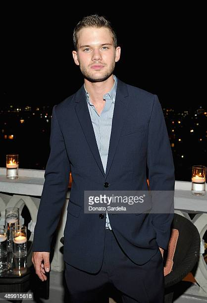 Actor Jeremy Irvine attends a cocktail event hosted by Dior Homme's Kris Van Assche at Chateau Marmont on September 24 2015 in Los Angeles California