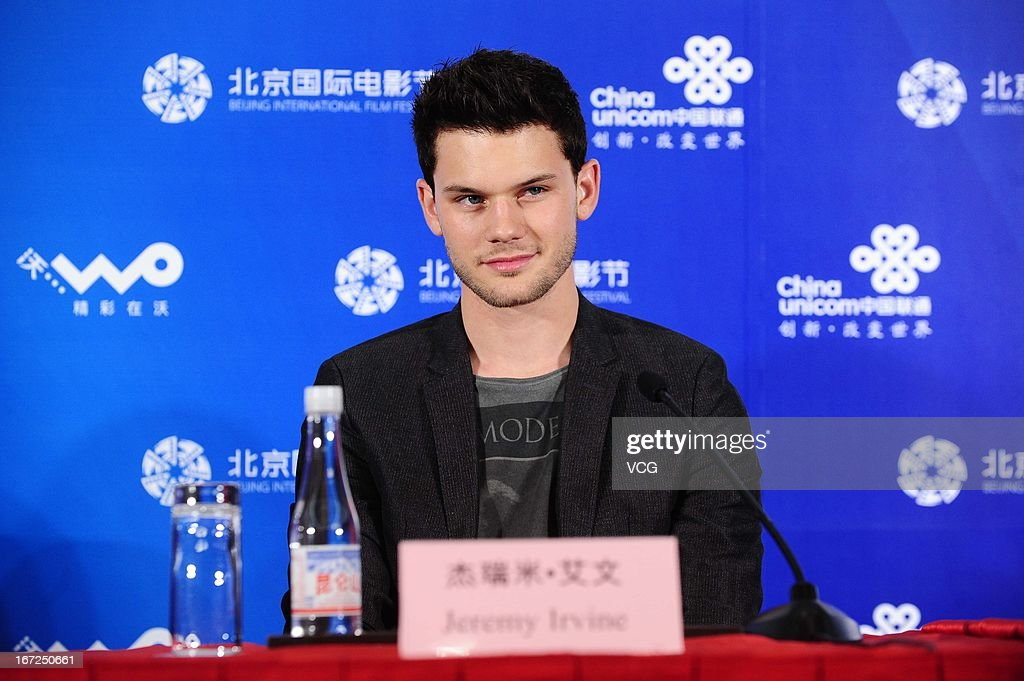 Actor <a gi-track='captionPersonalityLinkClicked' href=/galleries/search?phrase=Jeremy+Irvine&family=editorial&specificpeople=7595423 ng-click='$event.stopPropagation()'>Jeremy Irvine</a> attends 'Great Expectations' press conference during the 3rd Beijing International Film Festival at China National Convention Center on April 23, 2013 in Beijing, China.