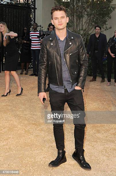 Actor Jeremy Irvine attends the Burberry 'London in Los Angeles' event at Griffith Observatory on April 16 2015 in Los Angeles California