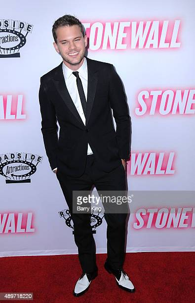 Actor Jeremy Irvine attends the premiere of Roadside Attractions' 'Stonewall' at the Pacific Design Center on September 23 2015 in West Hollywood...