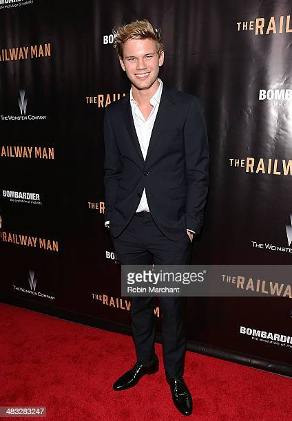 Actor Jeremy Irvine attends the 'Railway Man' premiere on April 7 2014 in New York United States