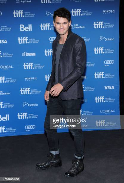 Actor Jeremy Irvine attends 'The Railway Man' Press Conference during the 2013 Toronto International Film Festival at TIFF Bell Lightbox on September...