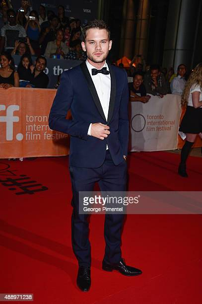 Actor Jeremy Irvine attends the 'Stonewall' premiere during the 2015 Toronto International Film Festival at Roy Thomson Hall on September 18 2015 in...