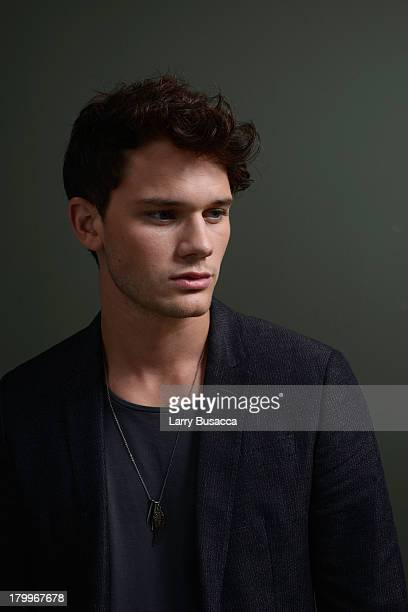 Actor Jeremy Irvine of 'Railway Man' poses at the Guess Portrait Studio during 2013 Toronto International Film Festival on September 7 2013 in...