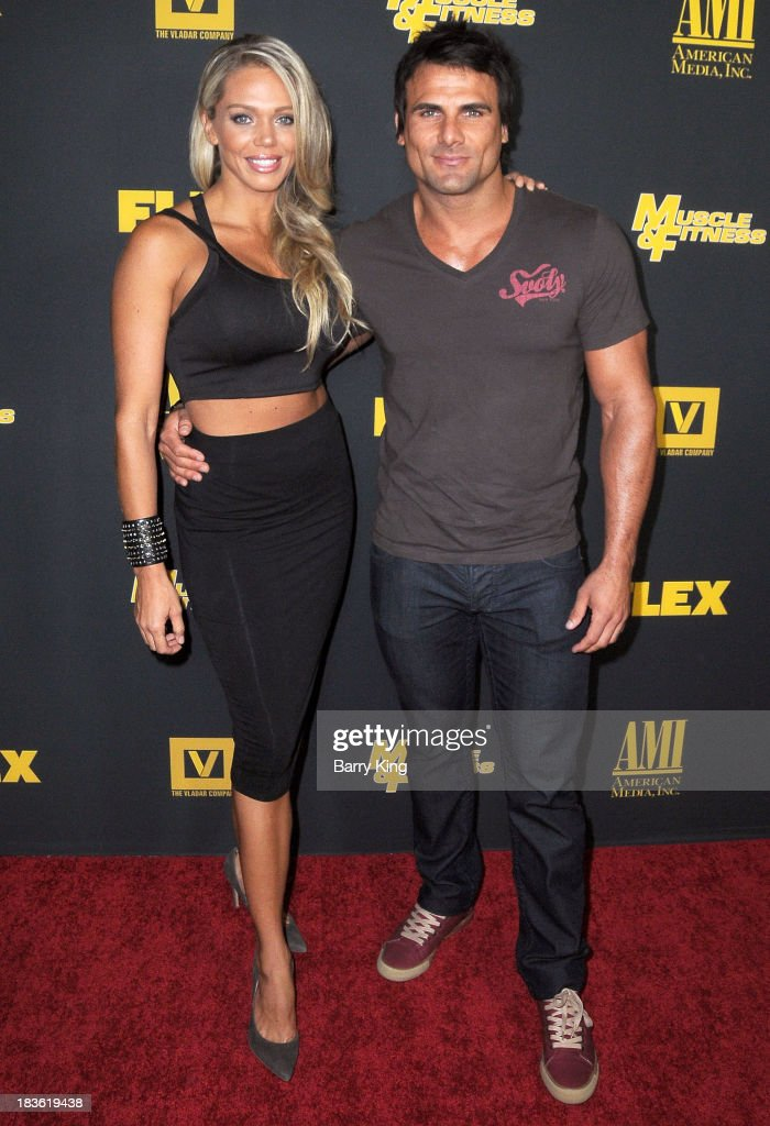Actor <a gi-track='captionPersonalityLinkClicked' href=/galleries/search?phrase=Jeremy+Jackson+-+Actor&family=editorial&specificpeople=14574803 ng-click='$event.stopPropagation()'>Jeremy Jackson</a> (R) and model Loni Christine attend the Los Angeles premiere of 'Generation Iron' on September 18, 2013 at Chinese 6 Theatres in Hollywood, California.