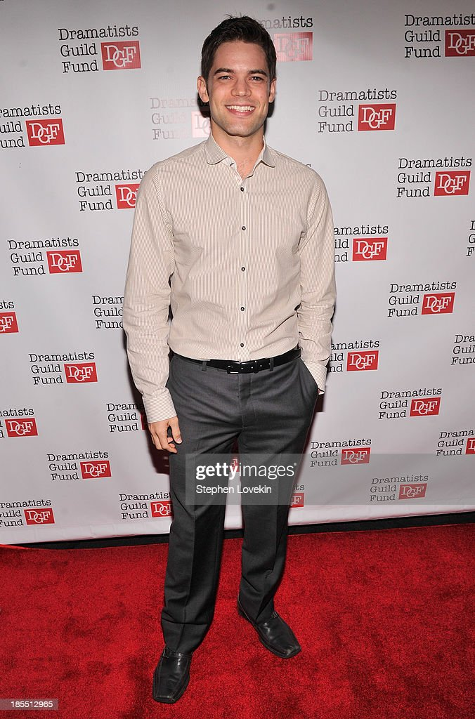 Actor Jeremy Jordan attends the Great Writers Thank Their Lucky Stars annual gala hosted by The Dramatists Guild Fund on October 21, 2013 in New York City.
