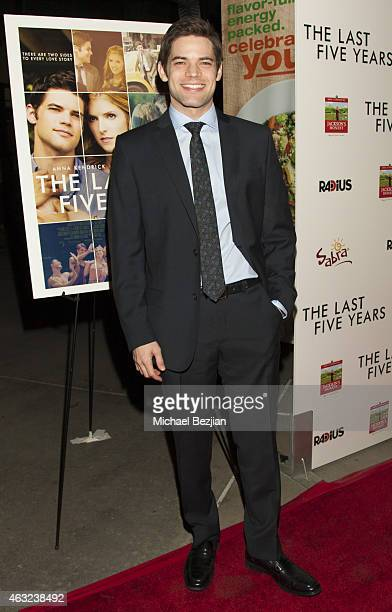 Actor Jeremy Jordan attends 'The Last Five Years' Premiere Presented By Sabra Hummus And Jackson's Honest Chips on February 11 2015 in Los Angeles...