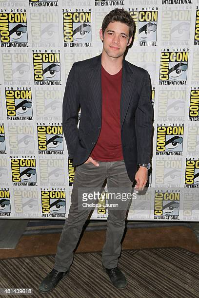Actor Jeremy Jordan attends the 'Supergirl' press room on July 11 2015 in San Diego California