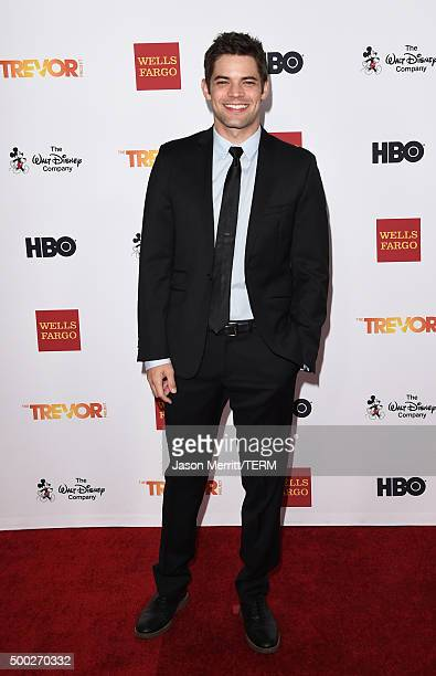 Actor Jeremy Jordan attends TrevorLIVE LA 2015 at Hollywood Palladium on December 6 2015 in Los Angeles California
