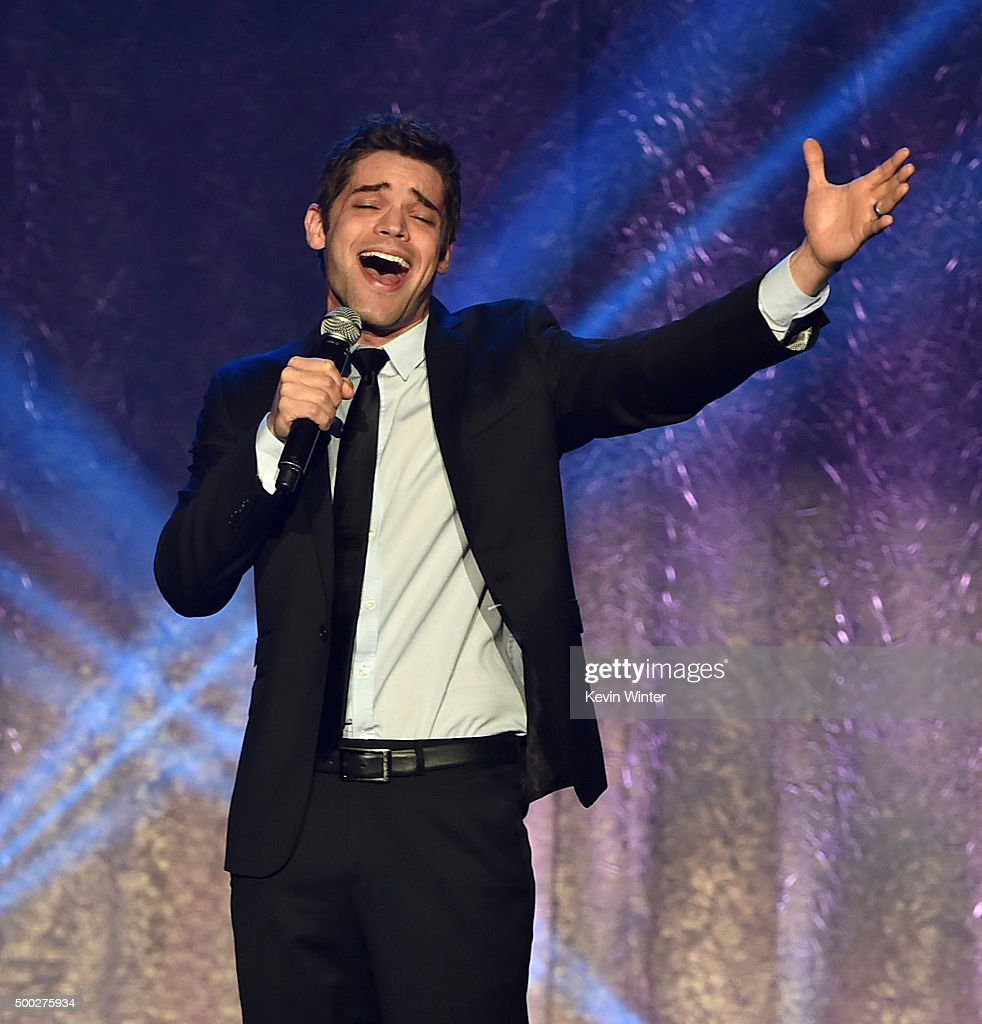 Actor Jeremy Jordan performs onstage during TrevorLIVE LA 2015 at Hollywood Palladium on December 6, 2015 in Los Angeles, California.