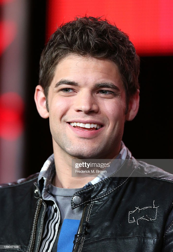 Actor Jeremy Jordan speaks onstage at the 'Smash' panel discussion during the NBCUniversal portion of the 2013 Winter TCA Tour- Day 3 at the Langham Hotel on January 6, 2013 in Pasadena, California.