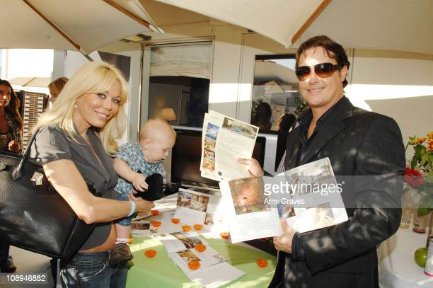 Actor Jeremy London wife Melissa and son Lyrik attend Melanie Segal's Annual Platinum Emmy Lounge presented by Sheer Cover Day 2 at the Luxe Hotel on...