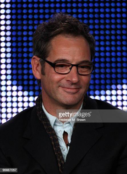 Actor Jeremy Northam speaks onstage at the CBS 'Miami Medical' presentation and QA portion of the 2010 Winter TCA Tour day 1 at the Langham Hotel on...