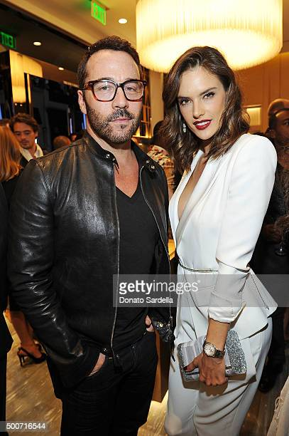 Actor Jeremy Piven and model Alessandra Ambrosio attend Audemars Piguet Celebrates the opening of Audemars Piguet Rodeo Drive at Audemars Piguet on...