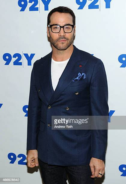 Actor Jeremy Piven attends Jeremy Piven In Conversation with Matt Lauer and Rebecca Eaton at 92nd Street Y on March 19 2015 in New York City
