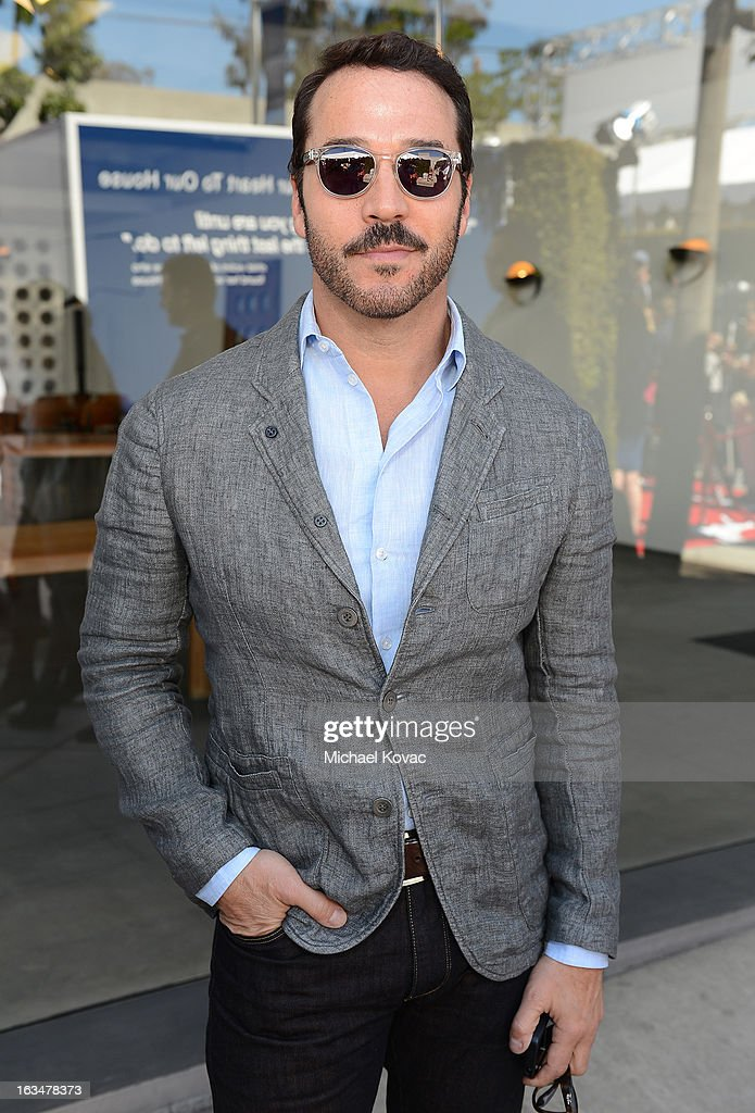 Actor Jeremy Piven wearing John Varvatos Eyewear at the 10th Annual Stuart House Benefit presented by Chrysler at John Varvatos Los Angeles on March 10, 2013 in Los Angeles, California.