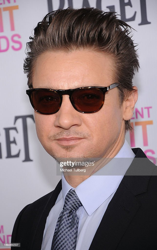 Actor <a gi-track='captionPersonalityLinkClicked' href=/galleries/search?phrase=Jeremy+Renner&family=editorial&specificpeople=708701 ng-click='$event.stopPropagation()'>Jeremy Renner</a> arrives at a brunch honoring the nominees for the 2013 Film Independent Filmmaker Grant and Spirit Awards at BOA Steakhouse on January 12, 2013 in West Hollywood, California.