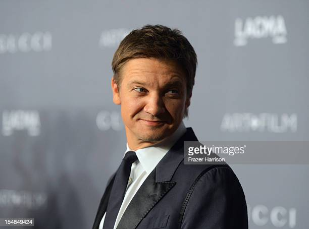 Actor Jeremy Renner arrives at LACMA 2012 Art Film Gala Honoring Ed Ruscha and Stanley Kubrick presented by Gucci at LACMA on October 27 2012 in Los...