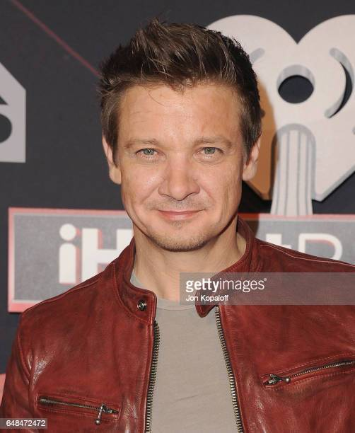 Actor Jeremy Renner arrives at the 2017 iHeartRadio Music Awards at The Forum on March 5 2017 in Inglewood California