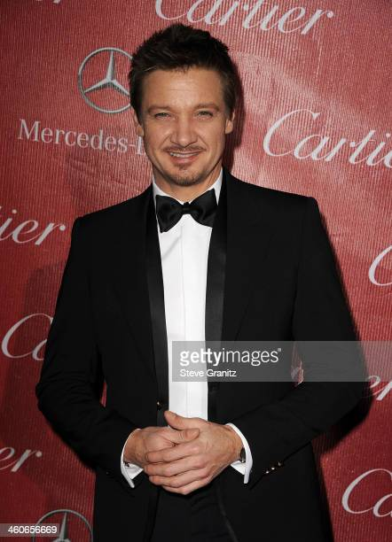 Actor Jeremy Renner arrives at the 25th annual Palm Springs International Film Festival awards gala at Palm Springs Convention Center on January 4...