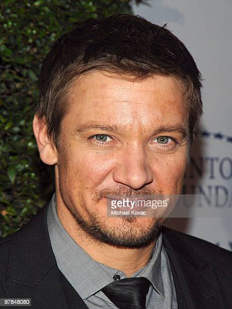 Actor Jeremy Renner arrives at the Ferrari 458 Italia Brings Funds for Haiti Relief event at Fleur de Lys on March 18 2010 in Los Angeles California