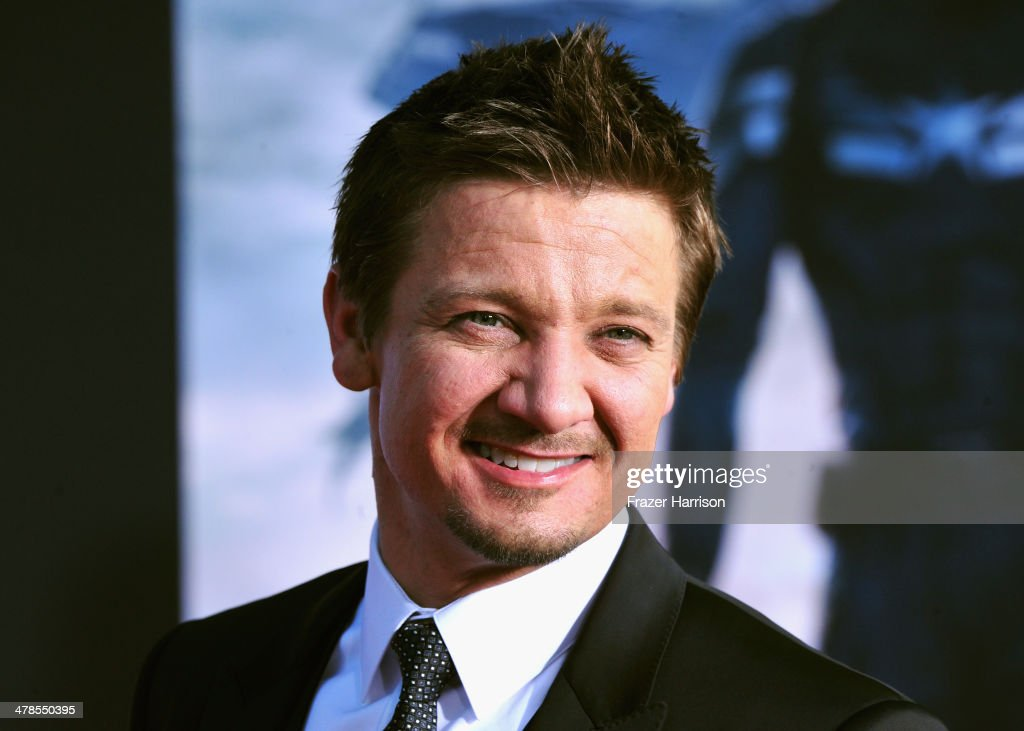 Actor <a gi-track='captionPersonalityLinkClicked' href=/galleries/search?phrase=Jeremy+Renner&family=editorial&specificpeople=708701 ng-click='$event.stopPropagation()'>Jeremy Renner</a> arrives at the premiere Of Marvel's 'Captain America:The Winter Soldier at the El Capitan Theatre on March 13, 2014 in Hollywood, California.