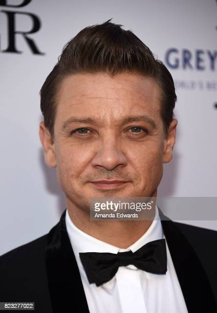Actor Jeremy Renner arrives at the premiere of The Weinstein Company's 'Wind River' at The Theatre at Ace Hotel on July 26 2017 in Los Angeles...