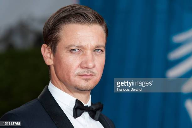 S actor Jeremy Renner arrives for the premiere of the film 'The Bourne Legacy' during 38th Deauville American Film Festival on September 1 2012 in...