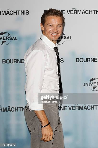 Actor Jeremy Renner attends a photocall to promote the film 'Das Bourne Vermaechtnis' at Ritz Carlton on September 3 2012 in Berlin Germany