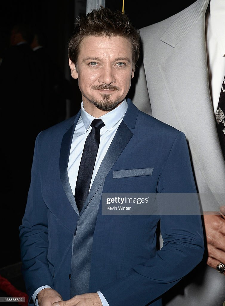 Actor <a gi-track='captionPersonalityLinkClicked' href=/galleries/search?phrase=Jeremy+Renner&family=editorial&specificpeople=708701 ng-click='$event.stopPropagation()'>Jeremy Renner</a> attends Columbia Pictures And Annapurna Pictures' 'American Hustle' Special Screening at Directors Guild Of America on December 3, 2013 in Los Angeles, California.