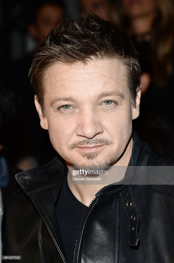 Actor <a gi-track='captionPersonalityLinkClicked' href=/galleries/search?phrase=Jeremy+Renner&family=editorial&specificpeople=708701 ng-click='$event.stopPropagation()'>Jeremy Renner</a> attends Diesel Black Gold during the Pitti Immagine Uomo 85 on January 8, 2014 in Florence, Italy.
