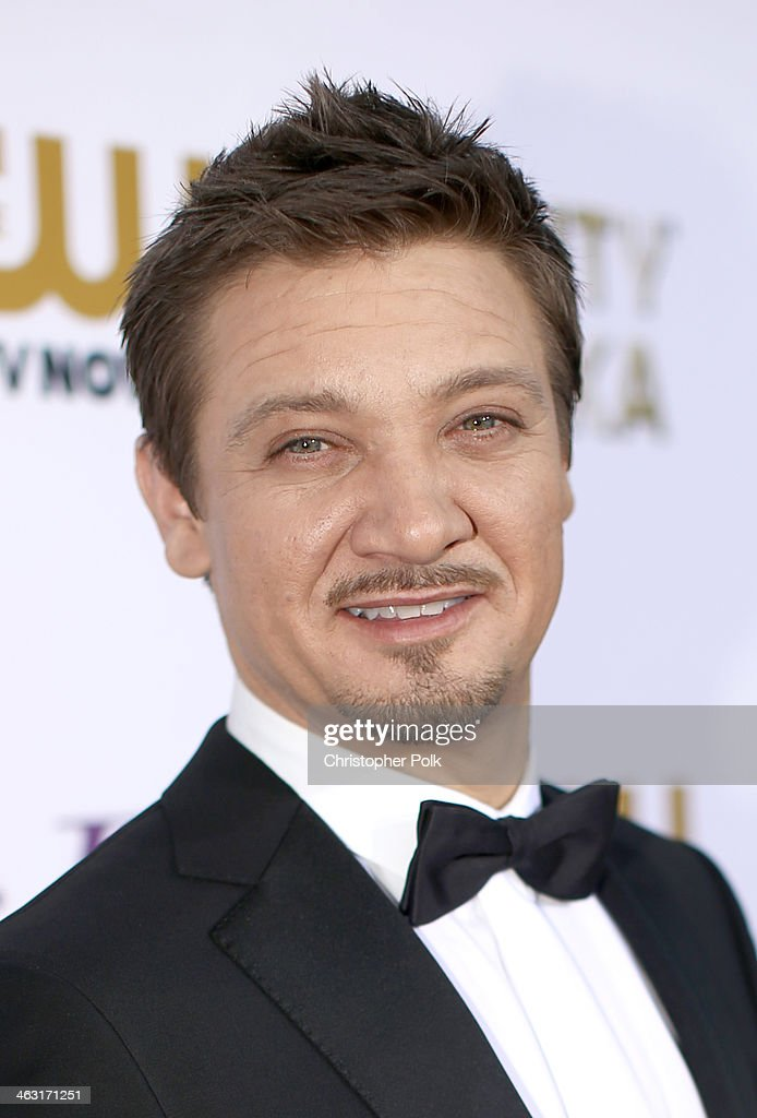 Actor <a gi-track='captionPersonalityLinkClicked' href=/galleries/search?phrase=Jeremy+Renner&family=editorial&specificpeople=708701 ng-click='$event.stopPropagation()'>Jeremy Renner</a> attends the 19th Annual Critics' Choice Movie Awards at Barker Hangar on January 16, 2014 in Santa Monica, California.