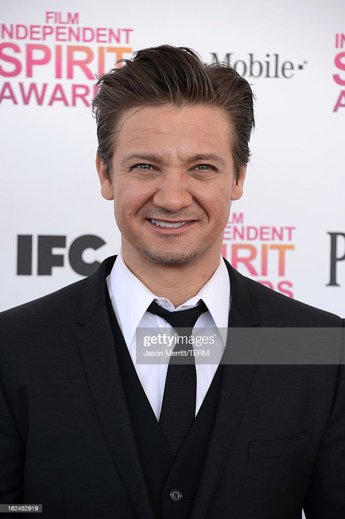 Actor Jeremy Renner attends the 2013 Film Independent Spirit Awards at Santa Monica Beach on February 23, 2013 in Santa Monica, California.