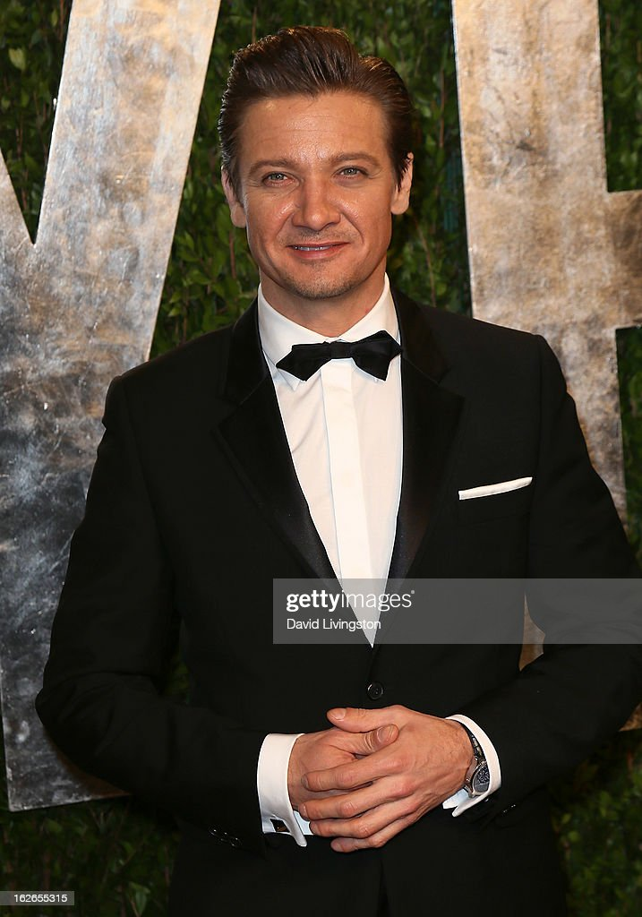 Actor Jeremy Renner attends the 2013 Vanity Fair Oscar Party at the Sunset Tower Hotel on February 24, 2013 in West Hollywood, California.