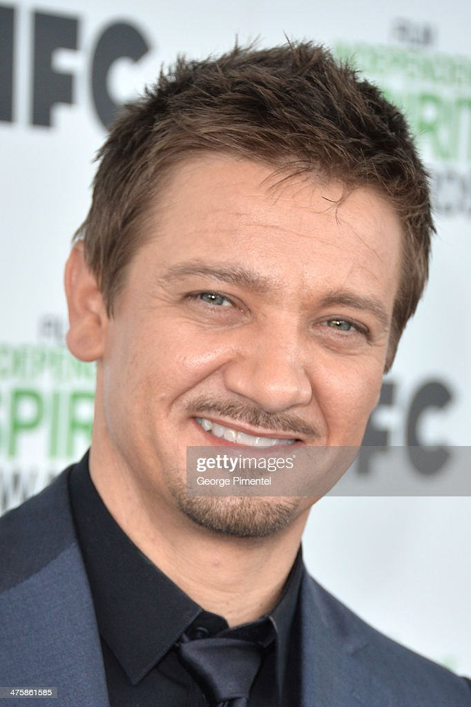 Actor Jeremy Renner attends the 2014 Film Independent Spirit Awards at Santa Monica Beach on March 1, 2014 in Santa Monica, California.