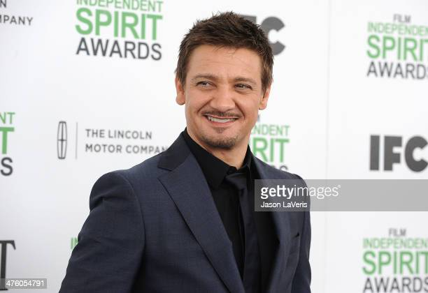 Actor Jeremy Renner attends the 2014 Film Independent Spirit Awards on March 1 2014 in Santa Monica California