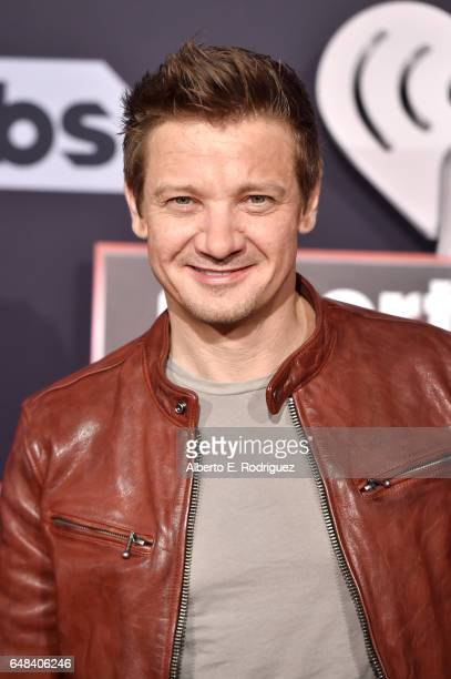 Actor Jeremy Renner attends the 2017 iHeartRadio Music Awards which broadcast live on Turner's TBS TNT and truTV at The Forum on March 5 2017 in...