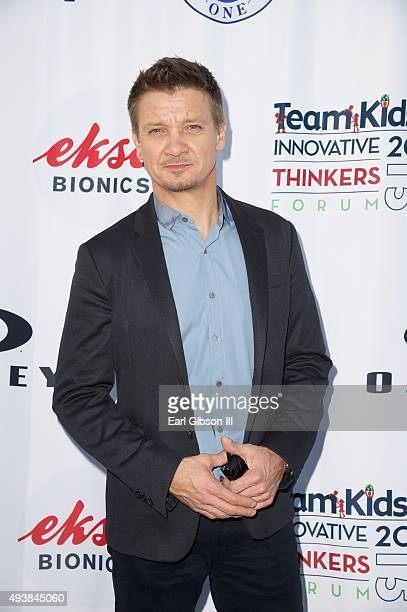 Actor Jeremy Renner attends the 3rd Annual 'Team Kids Innovative Thinkers Forum' fundraising event at Oakley Interplanetary Headquarters on October...