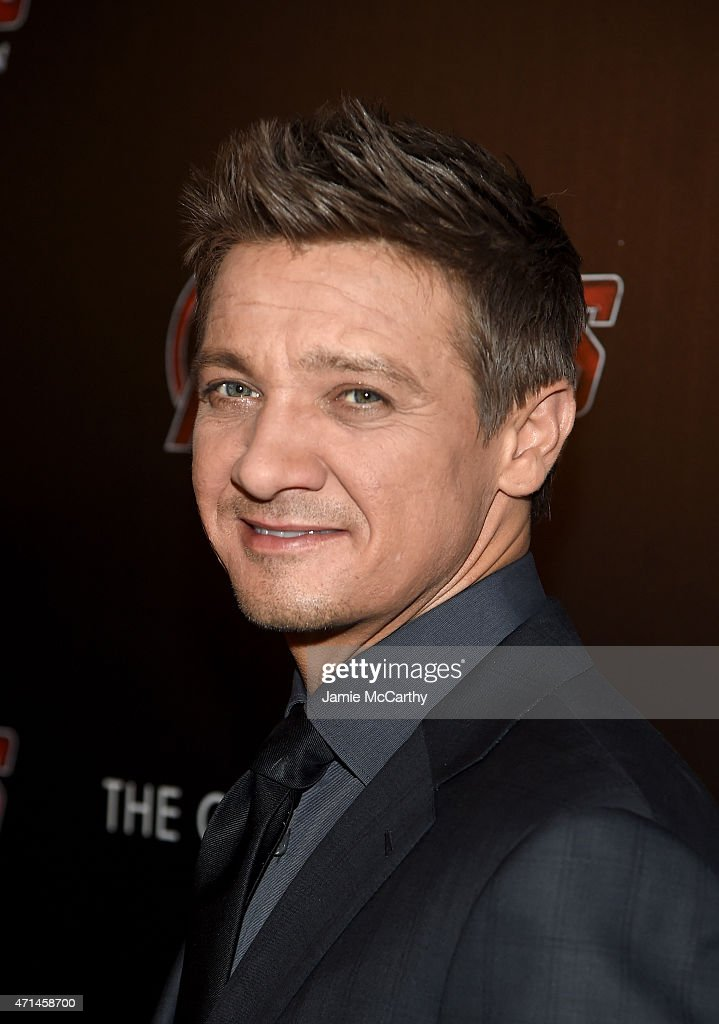 Actor <a gi-track='captionPersonalityLinkClicked' href=/galleries/search?phrase=Jeremy+Renner&family=editorial&specificpeople=708701 ng-click='$event.stopPropagation()'>Jeremy Renner</a> attends The Cinema Society & Audi screening of Marvel's 'Avengers: Age of Ultron' on April 28, 2015 in New York City.