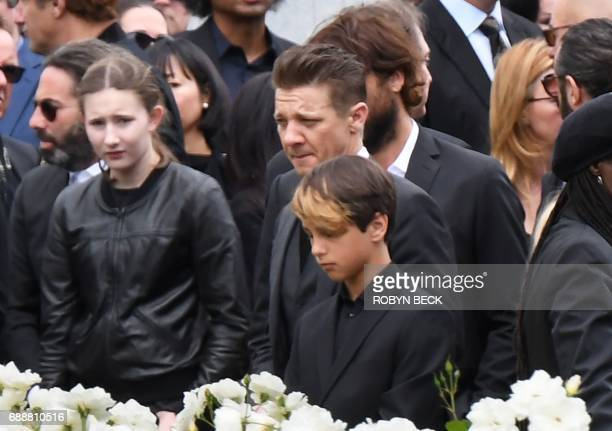 Actor Jeremy Renner attends the funeral and memorial service for Soundgarden frontman Chris Cornell May 26 2017 at Hollywood Forever Cemetery in Los...