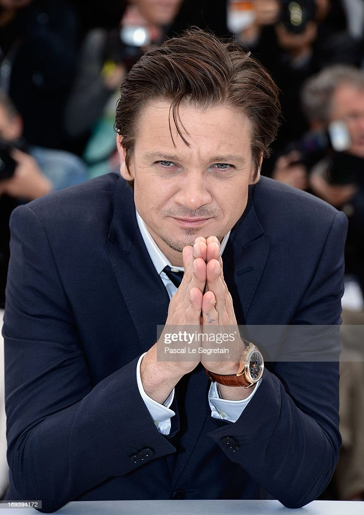 Actor <a gi-track='captionPersonalityLinkClicked' href=/galleries/search?phrase=Jeremy+Renner&family=editorial&specificpeople=708701 ng-click='$event.stopPropagation()'>Jeremy Renner</a> attends 'The Immigrant' photocall during The 66th Annual Cannes Film Festival at he Palais des Festivals on May 24, 2013 in Cannes, France.