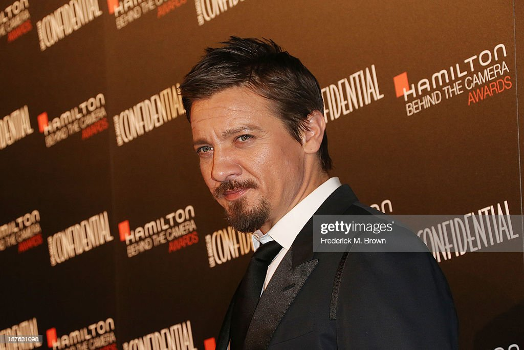 Actor <a gi-track='captionPersonalityLinkClicked' href=/galleries/search?phrase=Jeremy+Renner&family=editorial&specificpeople=708701 ng-click='$event.stopPropagation()'>Jeremy Renner</a> attends the Seventh Annual Hamilton Behind the Camera Awards at The Wilshire Ebell Theatre on November 10, 2013 in Los Angeles, California.