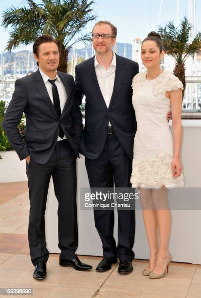 Actor Jeremy Renner director James Gray and actress Marion Cotillard attend the photocall for 'The Immigrant' at The 66th Annual Cannes Film Festival...