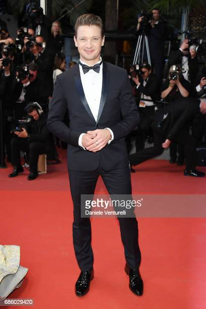 Actor Jeremy Renner of 'Wind River' attend the 'The Square' screening during the 70th annual Cannes Film Festival at Palais des Festivals on May 20...