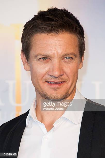 US actor Jeremy Renner poses at 'The Bourne Legacy' Photocall during 38th Deauville American Film Festival on September 1 2012 in Deauville France