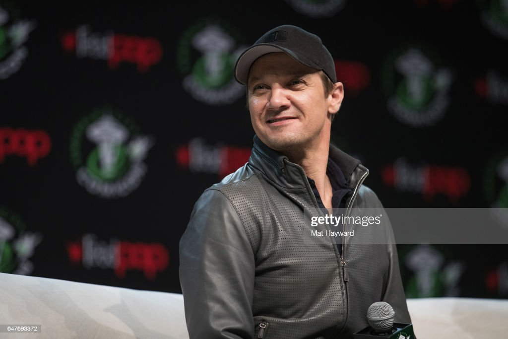 Actor Jeremy Renner speaks on stage during Emerald City Comic Con at Washington State Convention Center on March 3, 2017 in Seattle, Washington.