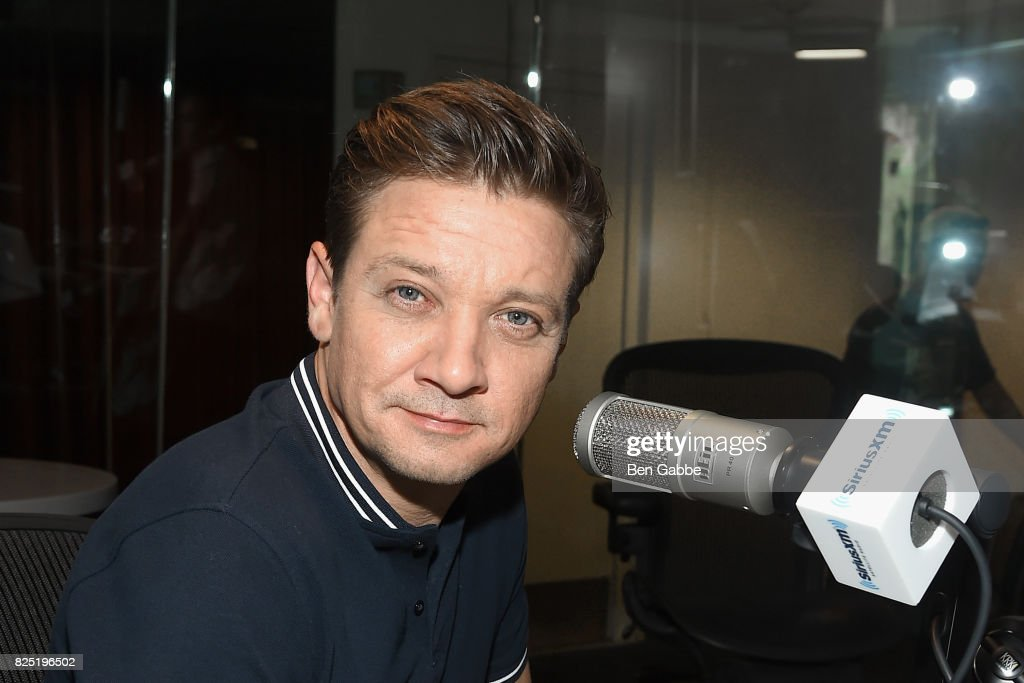 Actor Jeremy Renner visits at SiriusXM Studios on August 1, 2017 in New York City.